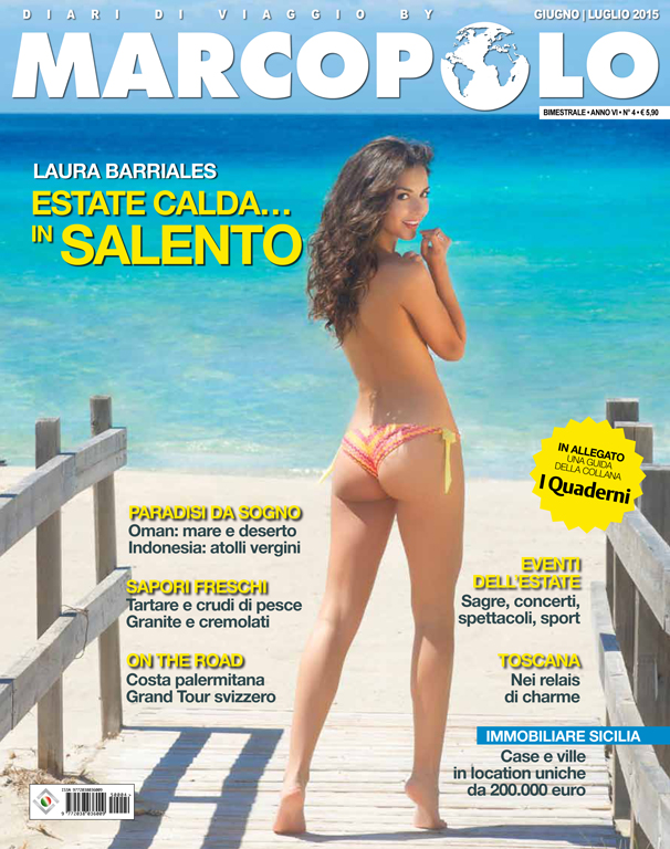 Laura Barriales<br />(Hair, Make Up & Fashion Editor)<br />Beachwear: Pin-Up Stars<br />Location: Salento